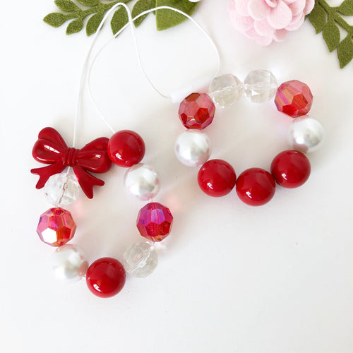 Christmas Bubblegum Jewellery - Red and White