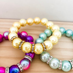 Bubblegum Bracelet - Sparkles and Bling Yellow