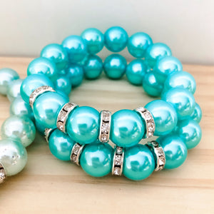 Bubblegum Bracelet - Sparkles and Bling Aqua