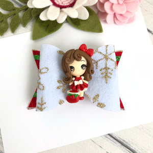 Christmas Clara Bow - Girl with Christmas Sack Clay