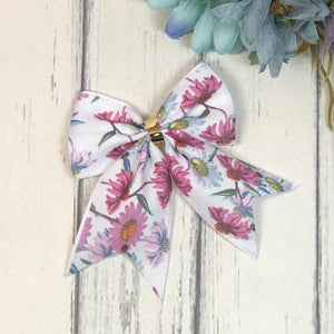 Daisy Bow - Pink and White