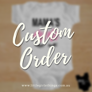 Custom Order Onesie - Your Design