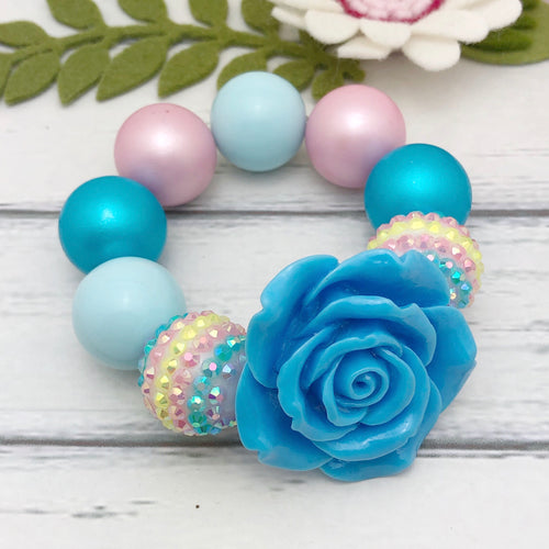 Bubblegum Bracelet - Blue Flower