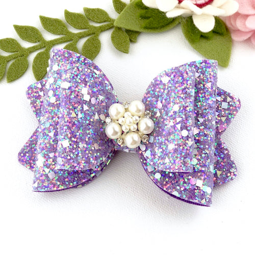 Chloe Big Bow - Sparkling Purple