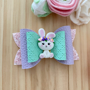 Skyla Bow - Easter Clay Bunny