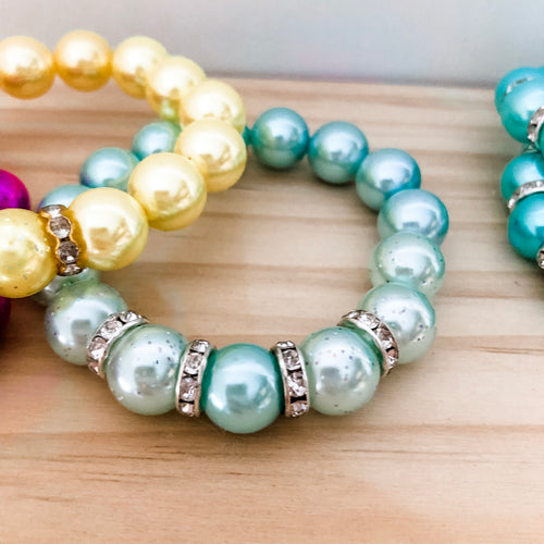 Bubblegum Bracelet - Sparkles and Bling Mint