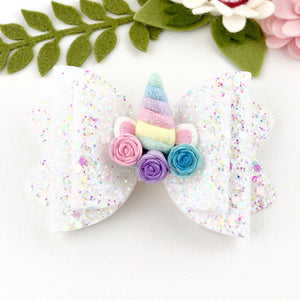 Chloe Big Bow - Rainbow Unicorn