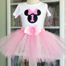 1st Birthday - Pink & White Glitter Dot Tutu & Top