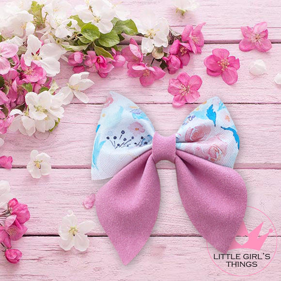 Sailor Bows - Pink and floral