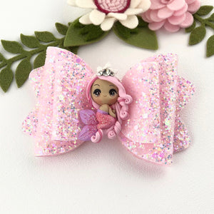 Chloe Big Bow - Mermaid Pretty in Pink