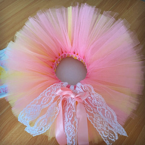 Deluxe Tutu - Pink & Yellow