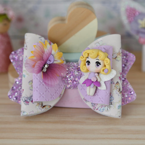 Chloe Big Bow - Rosebud in Lavender