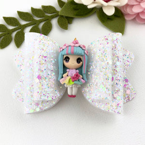 Chloe Big Bow - Unicorn Girl