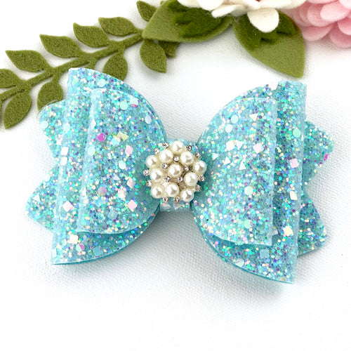 Chloe Big Bow - Sparkling Lake Blue