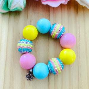 Bubblegum Bracelet - Easter Flower Charm