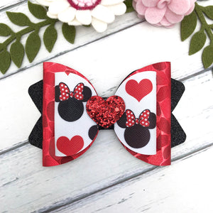Chloe Big Bow - Mini and Hearts