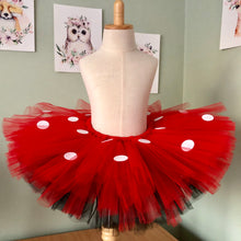 Red & Black Tulle with White Dot - Minnie Tutu
