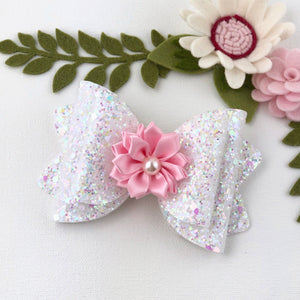 Chloe Big Bow - Sparkling Snow