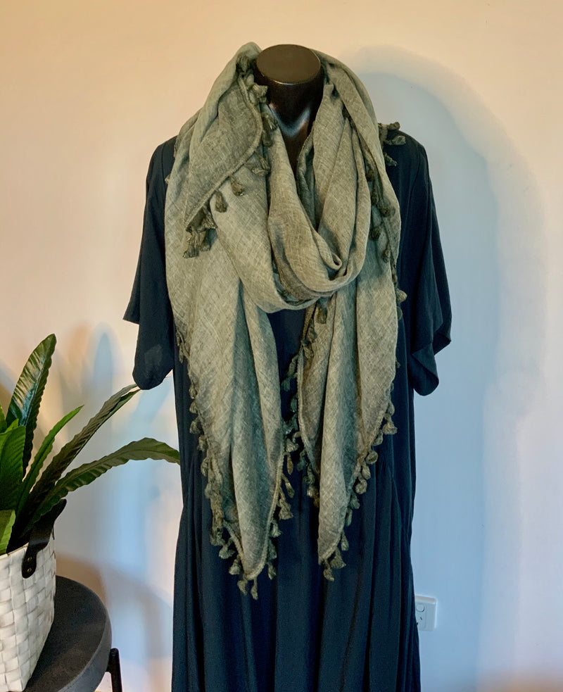 JUST NOT A SCARF- vintage green