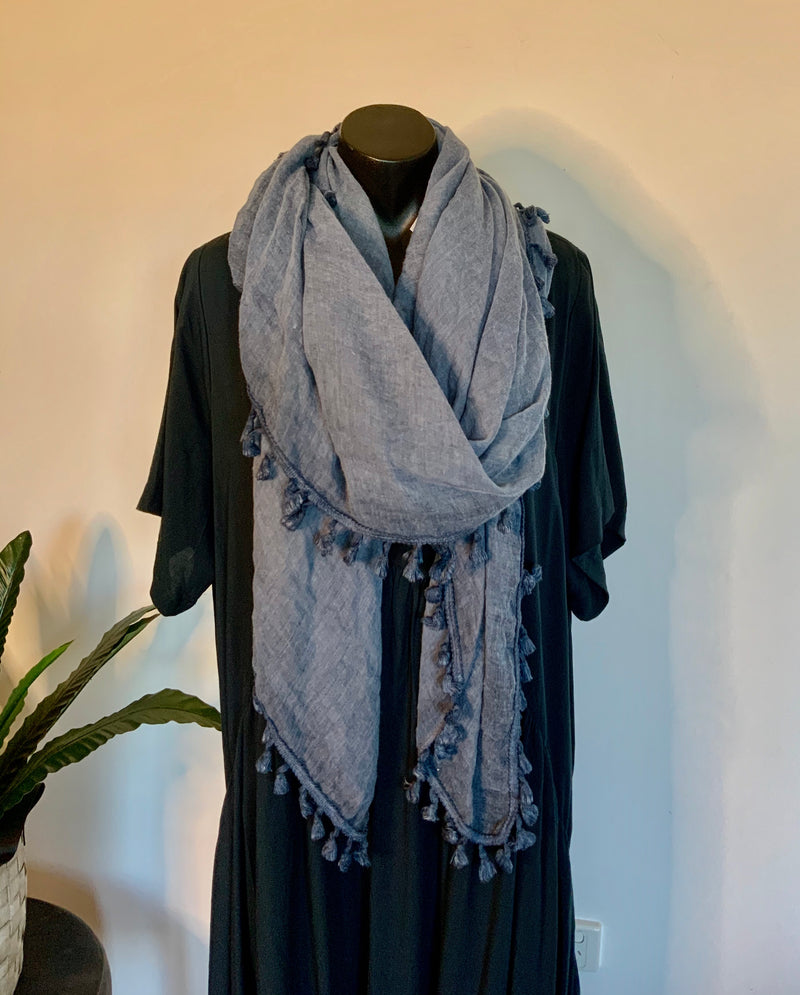JUST NOT A SCARF - vintage blue
