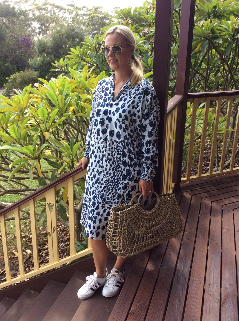 SHIRT DRESS-leopard
