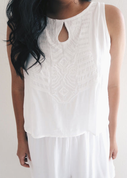White Summertime Romper