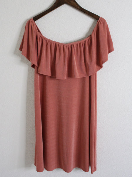 Desert Sand Off The Shoulder Dress
