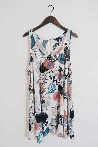 Sleeveless Aline Floral Print Dress