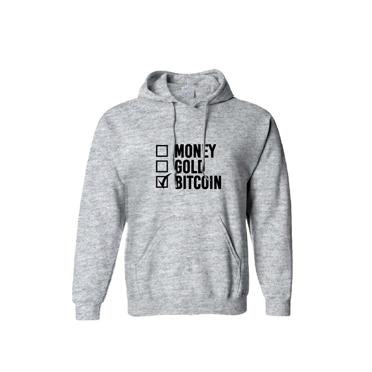 Money Gold Bitcoin Tick Box Unisex Hoodie - Pockets Moda Customise Hoodies and Tshirt