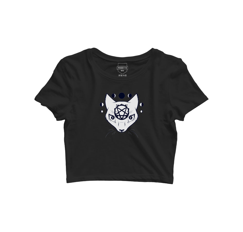 Halloween Special Women Crop Top T-Shirt - Pockets Moda Customise Hoodies and Tshirt