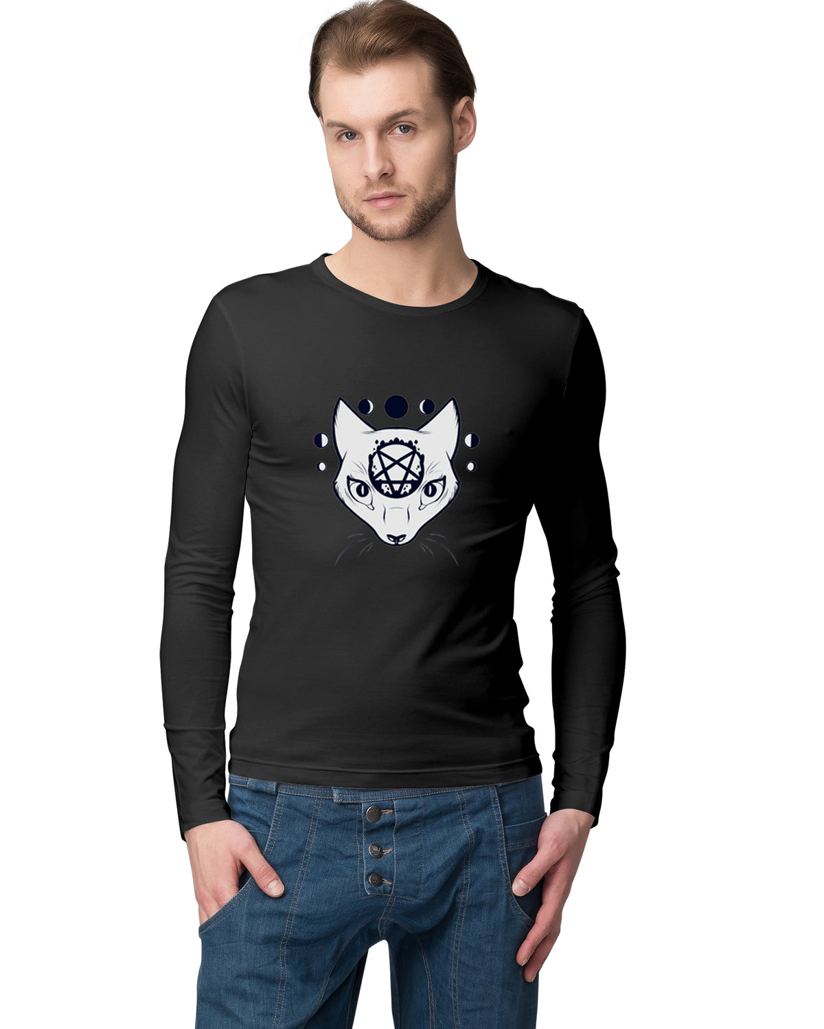 Halloween Special Men Full Sleeve T-Shirt - Pockets Moda Customise Hoodies and Tshirt