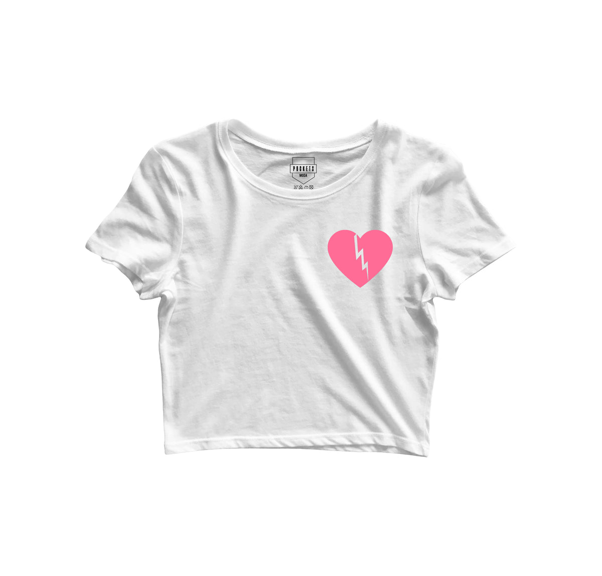Heart Break Crop Top - Pockets Moda Customise Hoodies and Tshirt