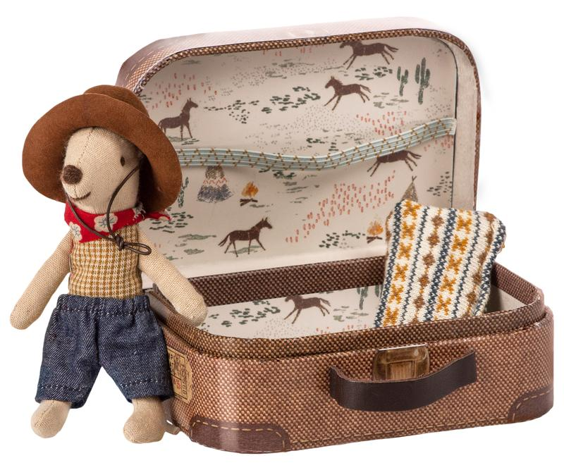 Cowboy Mouse in a Suitcase