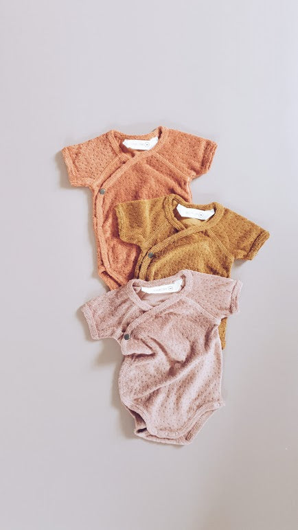 Short Sleeve Terry Bodysuit Copper