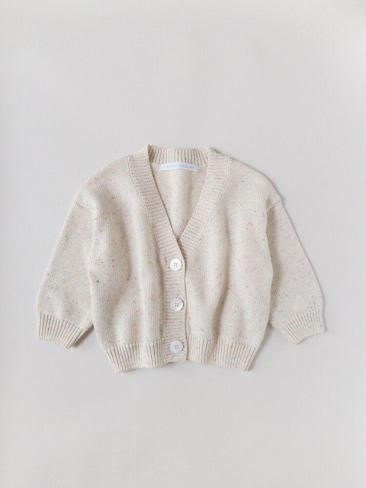 RAINBOW SPECKLE CARDIGAN | NATURAL