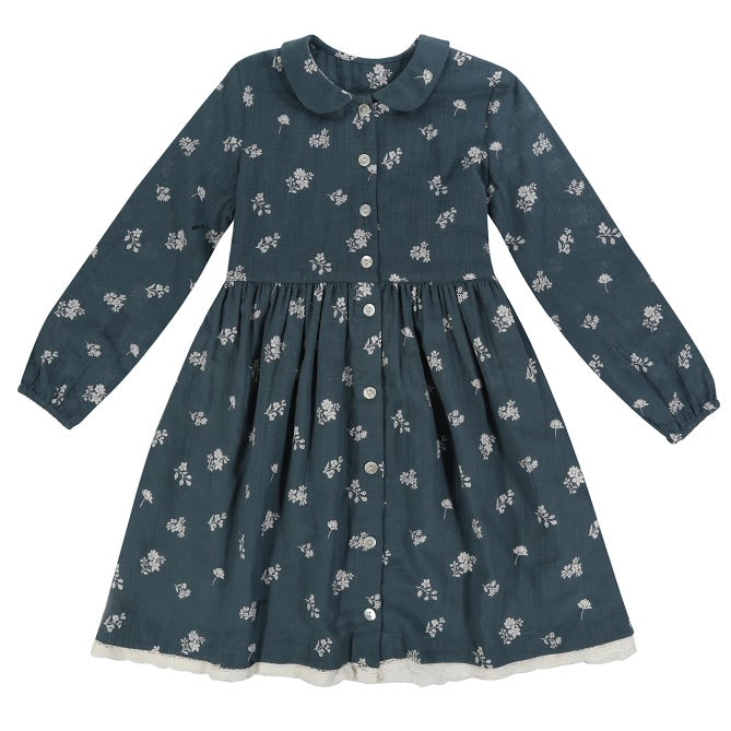 Agatha Dress Teal Floral