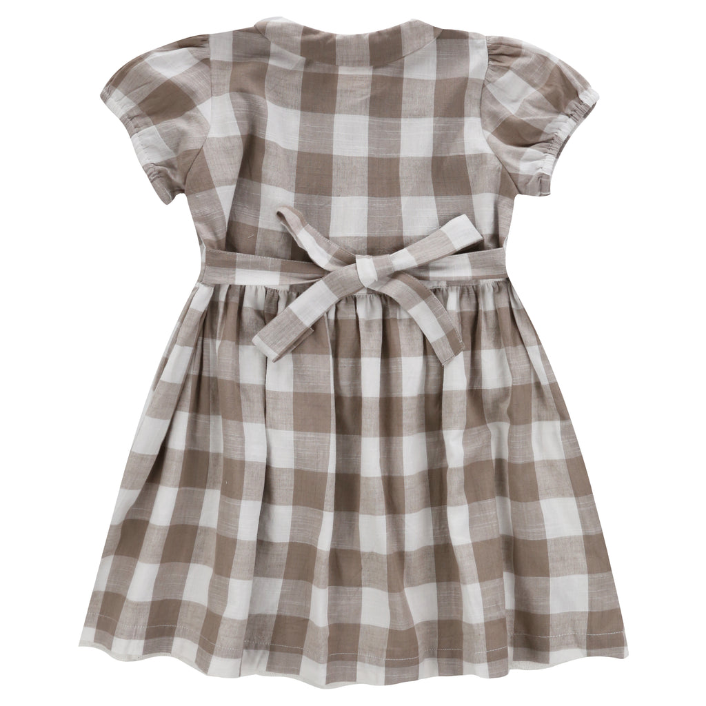 Audrey Dress Cinder Gingham