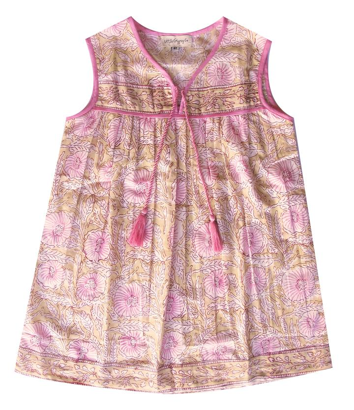 Little Luna Sleeveless Dress - Pink Azalea