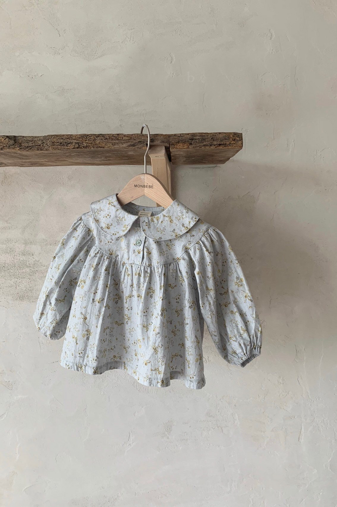 Elder Blouse Blue Floral