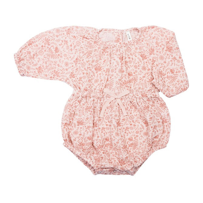 BUBBLE PLAYSUIT ROSEBLOOM