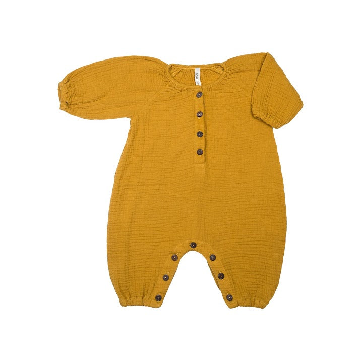 Bubble Romper Mustard