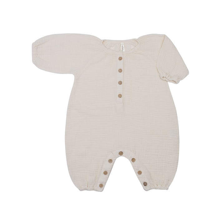 Bubble Romper Oatmeal