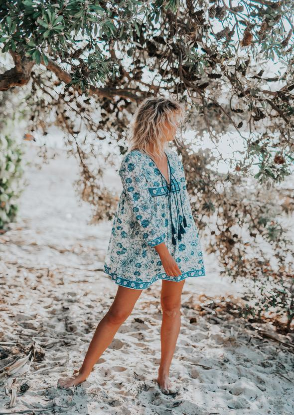 Mini Dress - Blue Azalea