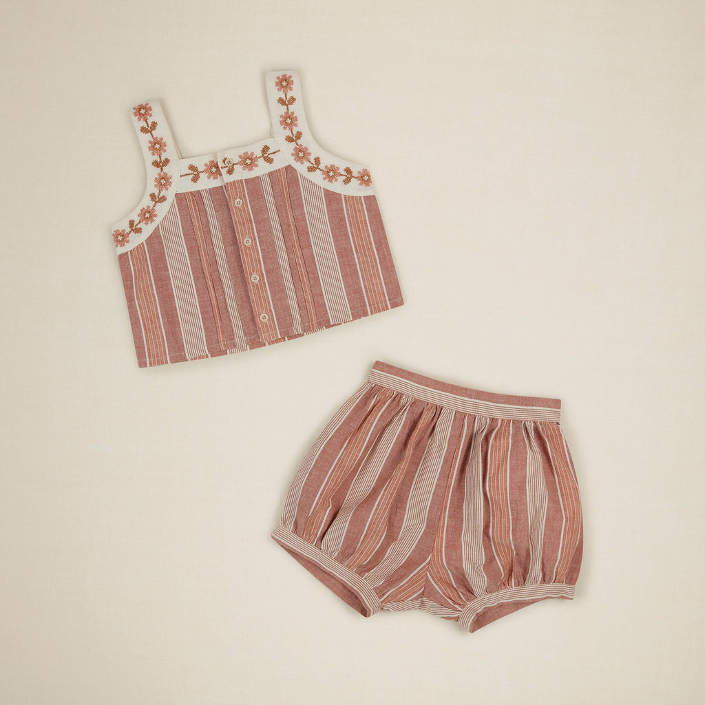 ELMA SHORT SET - RAINBOW STRIPE