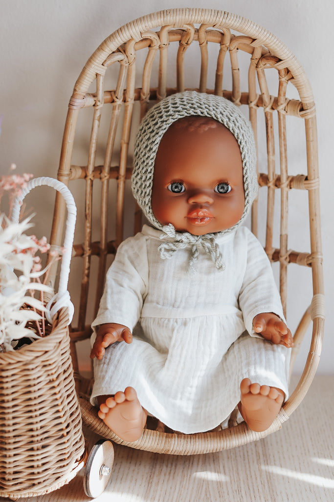 Ruby Doll With Ivory Dress