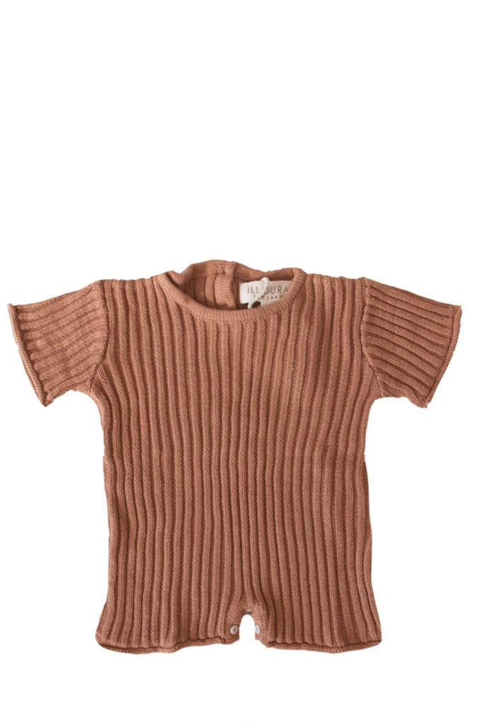 Essential knit Romper | Rust