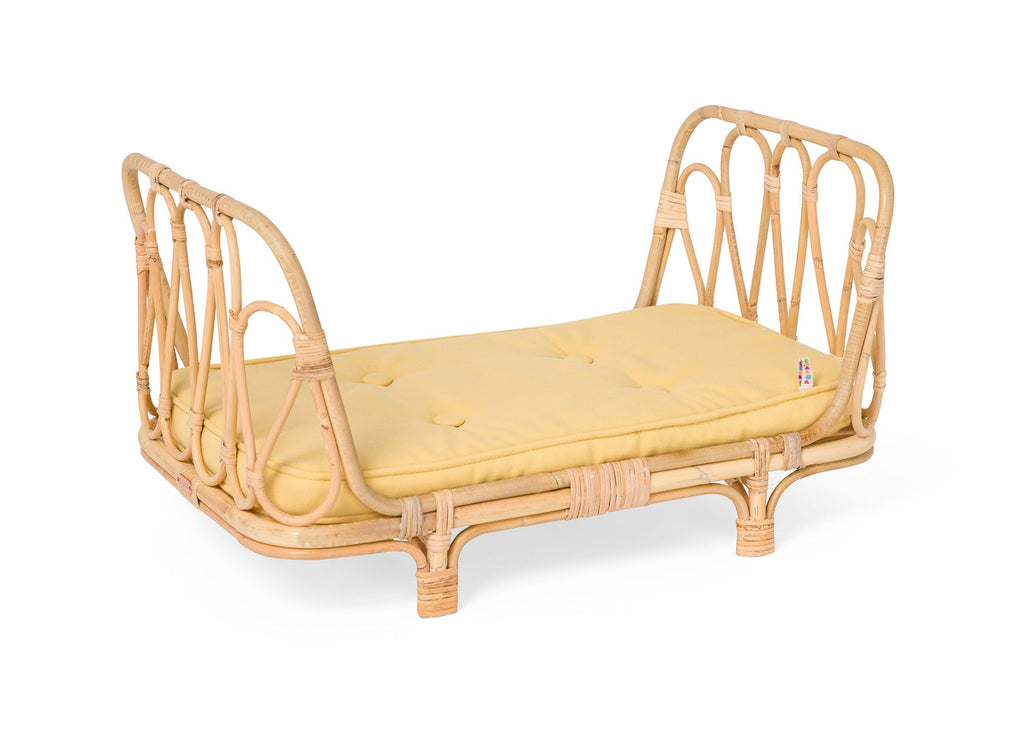 Rattan Day Bed Yellow
