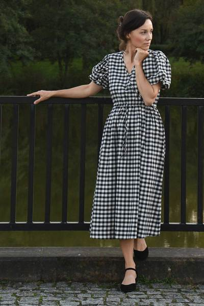 Kalpe Dress - Black Gingham