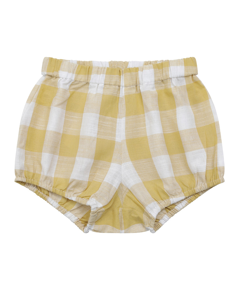 Poppy Bloomers Custard Gingham