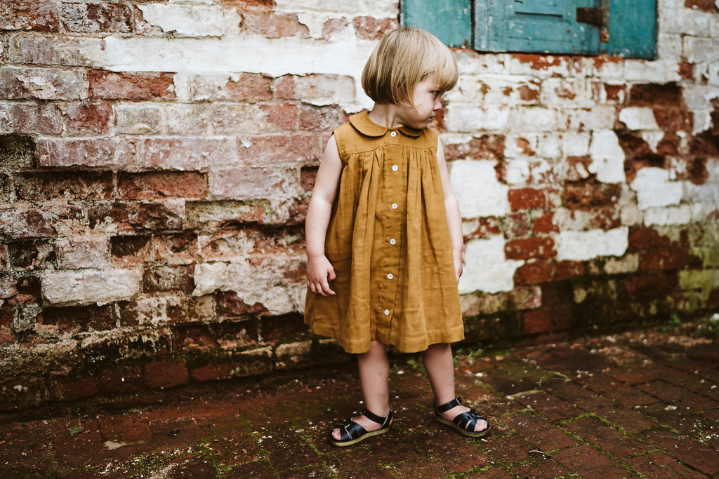 Florence Dress Ginger Muslin